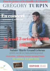 Concert Gregory Turpin @ Sainte Marie Grand Lebrun